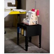 NAPOLEON BLACK TAVOLINO 42 × 35 × 49 cm