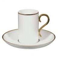 DOMO ROCCO  TAZZA CAFFE' BIANCO ORO/NERO ORO